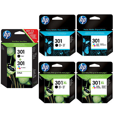 £22.99 • Buy Genuine HP 301 301XL Black / Colour / Combo Ink Cartridges *Choose Your Ink* Lot