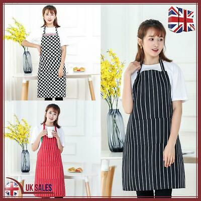 Chefs Cooking Apron With Pockets BBQ Baking Catering Apron For Men Women Ladies • 6.99£