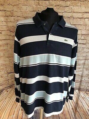 Vintage LACOSTE Polo Shirt | Size 6 (XL) |Striped Long Sleeve • 24.99£