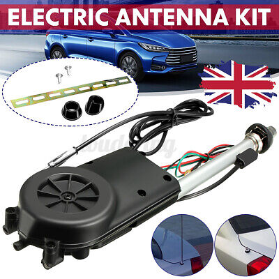 12V Universal Electric Automatic Wing Mount AM/FM Car Radio Aerial Antenna • 17.69£