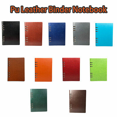 AU18.99 • Buy A5 Classic Refillable Notebook Loose Pocket Leather 6 Holes Ring Binder 11 Color