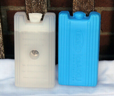Two 430g Ice Packs Freeze Blocks For Travel Cool Bag Chill Box Freezer • 2£
