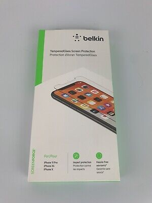 AU17.59 • Buy Belkin Tempered Glass Screen Protection For IPhone 11 Pro, IPhone XS, IPhone X