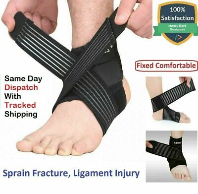 £3.95 • Buy Ankle Foot Support Strap Adjustable Elastic Compression Aid Bandage Wrap Sports