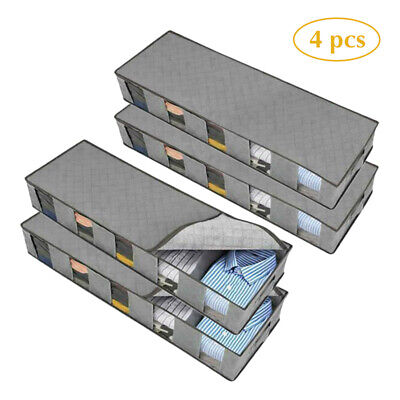 5 Compartments Under Bed Storage Clothes Shoes Organizer Box. Bag Large Capacity • 7.57£