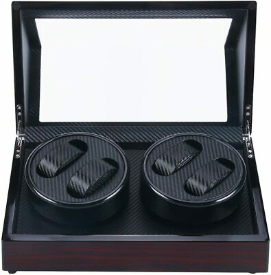 $ CDN126.99 • Buy Automatic Watch Winder Carbon Fiber Jewelry Storage Case Watches Display Box