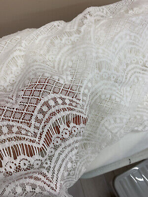 £45 • Buy 8.5 Meters Chantilly Lace Fabric Floral Eyelash Lace For Evening Ballgown