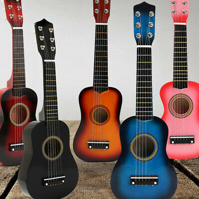 25  Childrens Kids Wooden Acoustic Guitar Musical Instrument Child Toy Xmas Gift • 13.99£