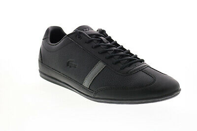 Lacoste Misano 120 1 P CMA Mens Black Leather Lifestyle Trainers Shoes • 72.99£