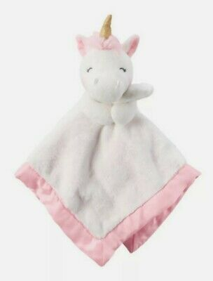NWT Carters Unicorn Security Blanket White Pink Gold Horn Baby Girl Lovey 67211 • 9.39£