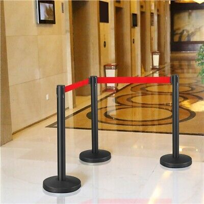£38.89 • Buy Retractable Crowd Control Barriers Queue Barrier Safety Barriers Belt Stanchion