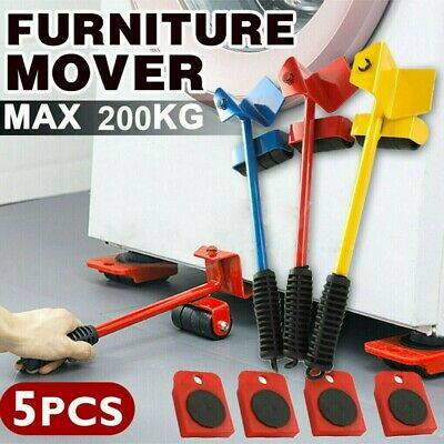 AU16.95 • Buy Heavy Furniture Shifter Lifter Wheels Moving Slider Mover Easy Move Removal Kit