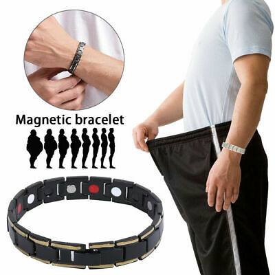 Mens Ladies Magnetic Health Bracelet Arthritis Carpal Tunnel Therapy Relief Hot • 3.99£