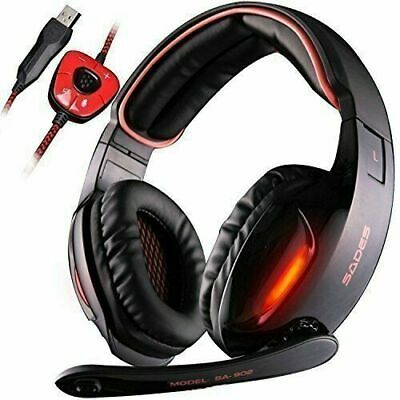 AU34.46 • Buy Gaming Headset SADES SA902 7.1 USB Virtual Surround Stereo Sound PC Headsets