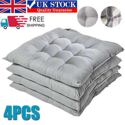 £15.99 • Buy 4PCS Thicken Dining Chair Seat Pads Square Cotton Booster Cushion Plain 40X40CM