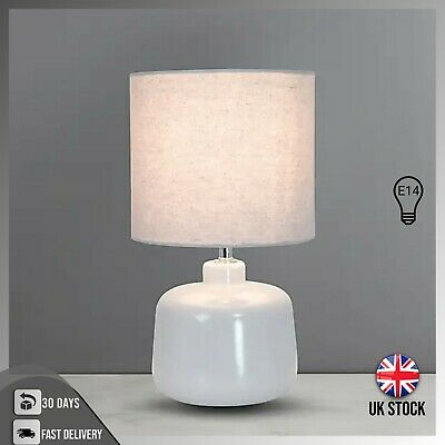 Beautiful & Stylish Table Lamp Lampshade Modern Bedside Lamp Ceramic - White • 21.92£