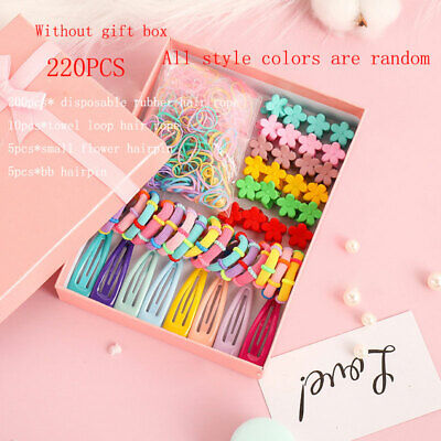 $ CDN3.98 • Buy 220Pcs Hair Band Elastic Girls Hair Accessories Clip Rope For Children Acces