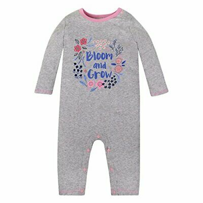 Organic Lamaze Baby One-Piece Romper Gray Pink  Bloom & Grow  Size 6 Months • 8.21£