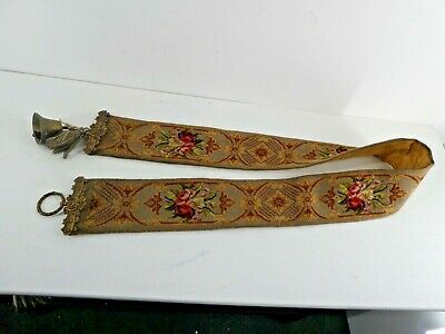 £120 • Buy Antique Hand Embroidered Bell Pull Tapestrie 71  Long      (C18)
