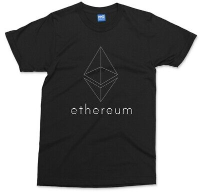 Ethereum T-shirt ETH Crypto Coin Blockchain Network Technology Gift Tech Fans • 8.99£