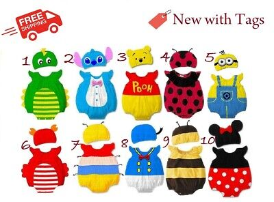 AU12.49 • Buy Baby Boy Girl Clothes: Animal Costume Outfit Romper Bodysuit Set For 0-12 Months