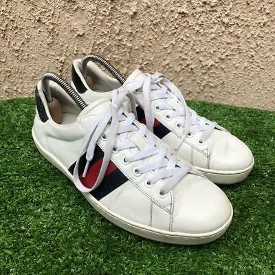 AU239.54 • Buy Gucci Ace Low Top Leather Mens Trainer Sneakers Size U.S 8