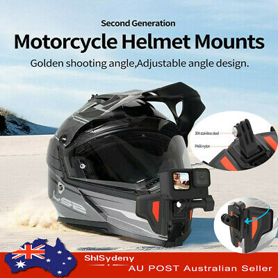 AU23.89 • Buy TELESIN Motorcycle Helmet Mount Strap Front Chin Foldable For GoPro Osmo Camera