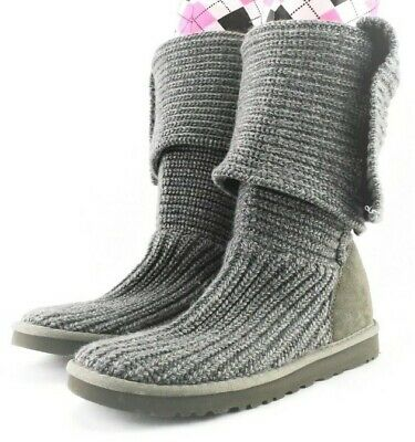 £15.54 • Buy UGG Australia Classic Cardy Tall Women's Grey Button Up Boots S/N 5819 Size W 9