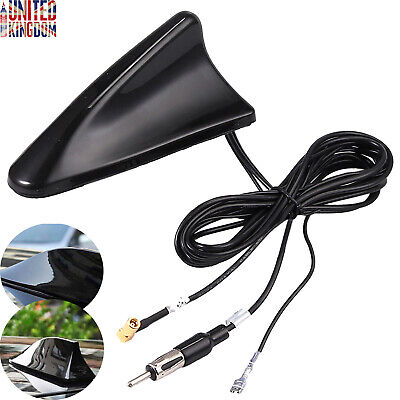 £20.99 • Buy DAB Car Aerial Antenna SMB Adapter AM/FM Shark Fin Roof Mount Aerial For Kenwood