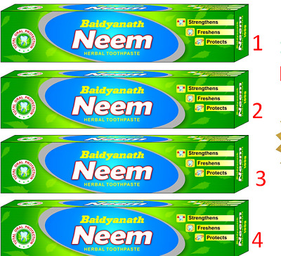 Baidyanath Neem Toothpaste - 100 G (Pack Of 4) | Free Ship • 19.35£