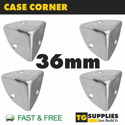 £5.39 • Buy 4 X Metal Case Corner Angle Brace Protector For Wooden Trunk Box Chest Bracket