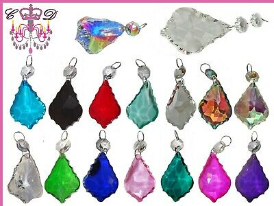 £5 • Buy Leaf Cut Glass Crystals Beads Chandelier Lamp Light Parts Prisms Wedding Drops