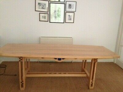 £800 • Buy Hand Made Oak Dining Room Table In The Style Of Charles Rennie Mackintosh