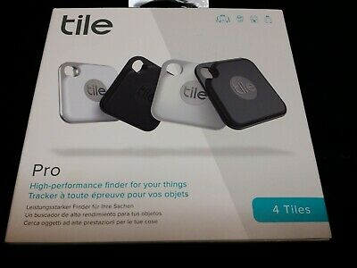 Open Package Tile Pro 2020 4-pack Bluetooth Tracker, Key Finder & Locater • 42.18£
