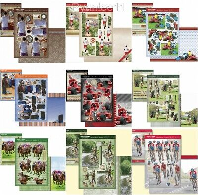 Hunkydory Sports & Games Male Theme Deco Large & Decoupage Toppers Card Kit  • 1.99£