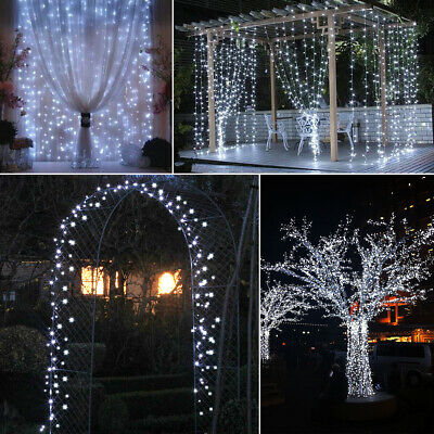 200 LED Solar/Battery Powered String Lights Fairy Lamp Outdoor Garden Party WH • 10.99£
