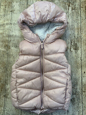 NEXT GIRLS GILET BODY WARMER Girls Ice Pink Age 3 To 4 Years Warm Hooded • 8.97£