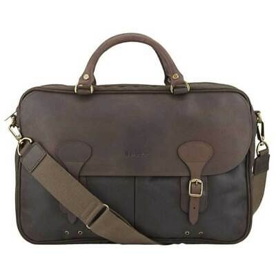 £139 • Buy Barbour Wax And Leather Briefcase Olive Bag Messenger One Size