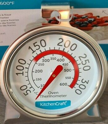 £5.15 • Buy KitchenCraft Oven Thermometer Large Dial Easy Read Stainless Steel Hang Or Stand