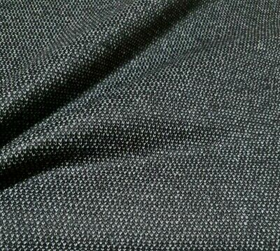 £4.99 • Buy Wool Blend Fabric Small Grey Figured Black Colour - Sold By The Metre