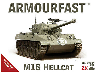 $11.74 • Buy Armourfast 1/72 M18 Hellcat Tank Destroyer (2 Kits In Box)