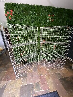 6x Gabion Baskets Cages Stone Wire Mesh Planter 100 X 95 X 30cm With Mesh Clips • 229.95£