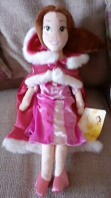 Disney Store Belle Pink Winter Dress Plush Soft Doll With  Label  20   • 10.99£