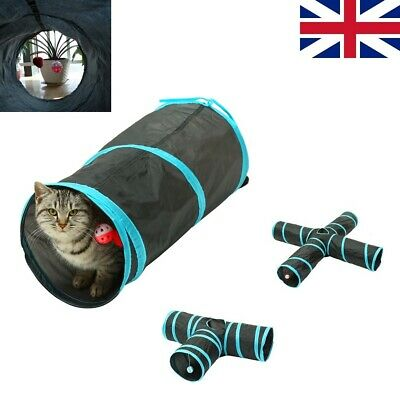 £8.99 • Buy Kitty Cat Tunnel Tube Pop Up Interactive Collapsible Toys With Balls And Bells