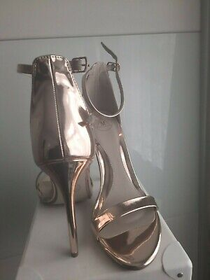 £8.50 • Buy Missguided Strappy Rose Gold Shoes Size 6
