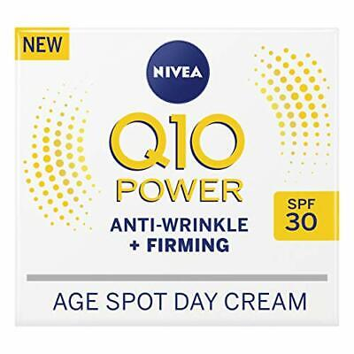 NIVEA Q10 Power Anti-Wrinkle + Firming Age Spot Day Cream SPF30 (50 Ml), • 7.99£