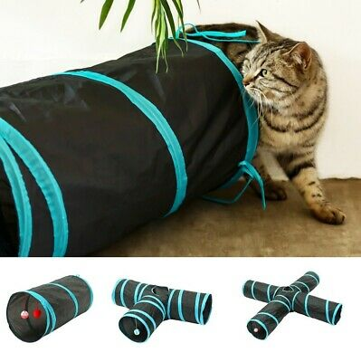 £8.99 • Buy Pop Up Cat Tunnel Interactive Toy  Collapsible Kitten Tube With Balls And Bells
