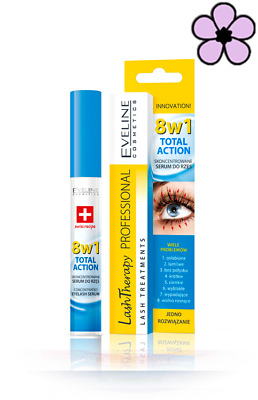 EVELINE LASH THERAPY TOTAL ACTION 8in1 CONCENTRATED EYELASH SERUM CONDITIONER 10 • 4.25£