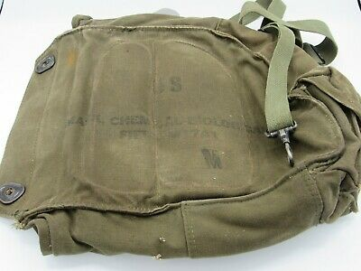 $19.99 • Buy VIETNAM Era US Army GAS Mask CANVAS Bag CHEMICAL Biological FIELD M17 A1 Size M