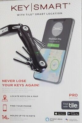 NEW Keysmart KS411-BK Pro Smart Key Organizer With Tile Location Tracking BLACK • 26.58£
